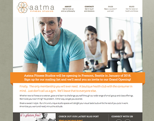 Web and Logo Design for aatma fitness