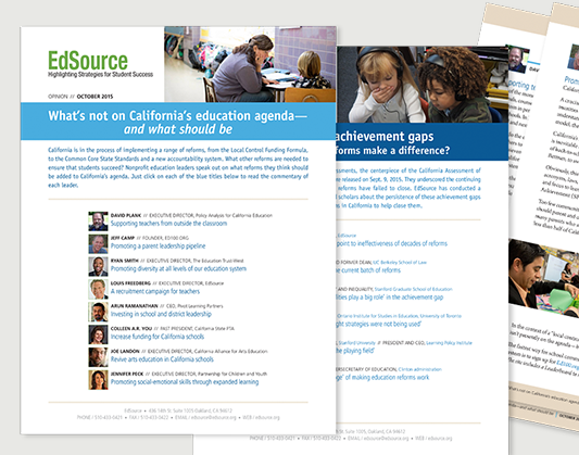 Graphic Design for EdSource